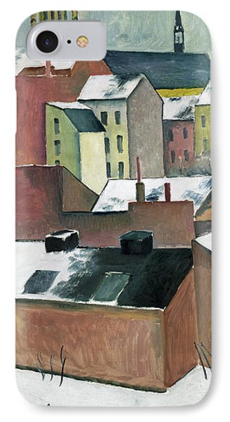 The Church Of St Mary In Bonn In Snow IPhone Case