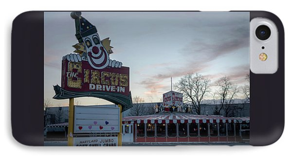 IPhone Case featuring the photograph The Circus Drive In Wall Township Nj by Terry DeLuco