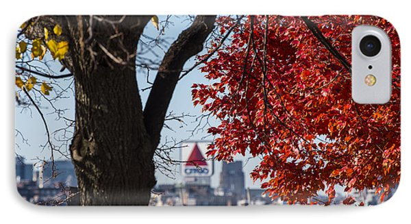 The Citgo Sign Through The Trees Boston Ma Charles River IPhone Case by Toby McGuire