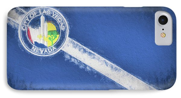 IPhone Case featuring the digital art The City Flag Of Las Vegas by JC Findley