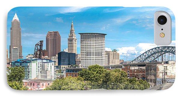 The Cleveland Skyline IPhone Case by Brent Durken
