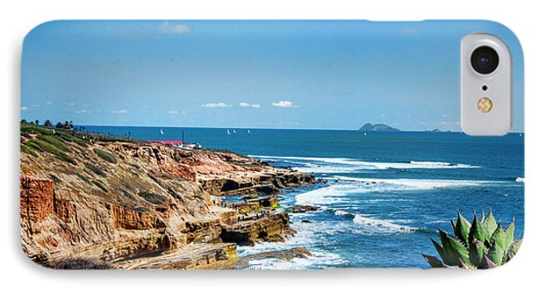 The Cliffs Of Point Loma IPhone Case by Daniel Hebard