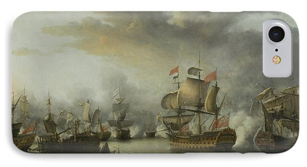 The Close Of The Battle Of The Saints IPhone Case by Nicholas Pocock