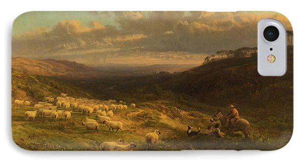 The Closing Day, Scene In Sussex IPhone 7 Case by George Vicat Cole