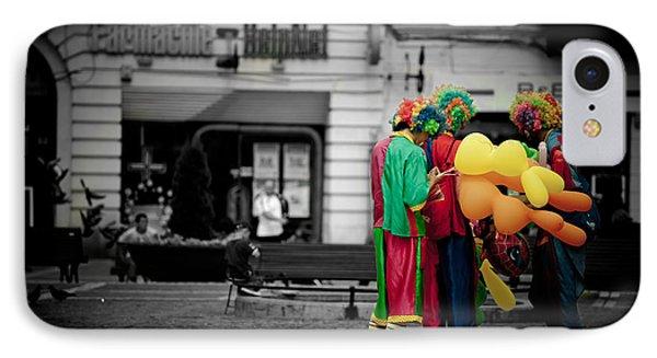 The Clown's Conspiracy Phone Case by Gabriela Insuratelu