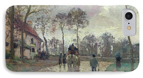 The Coach To Louveciennes IPhone Case by Camille Pissarro