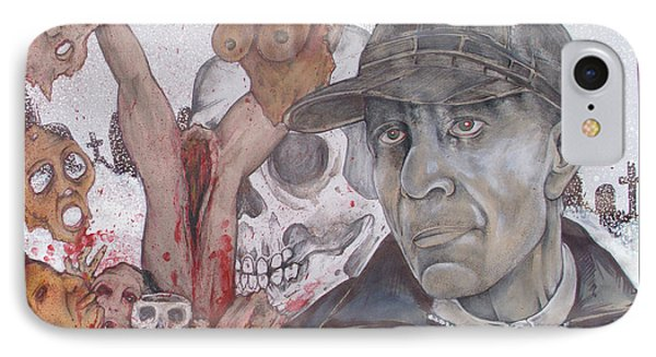 The Cold World Of Ed Gein Phone Case by Sam Hane