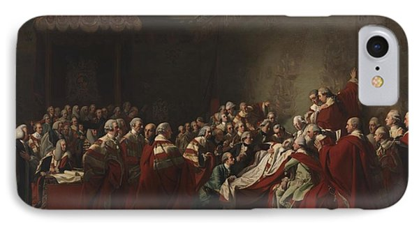 The Collapse Of The Earl Of Chatham In The House IPhone Case by John Singleton