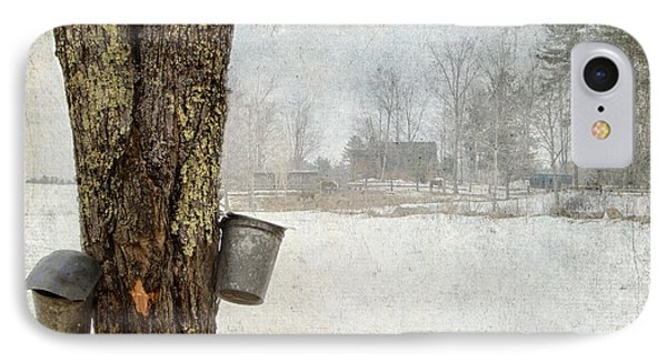 Collecting Sap For Making Maple Syrup IPhone Case by Betty  Pauwels