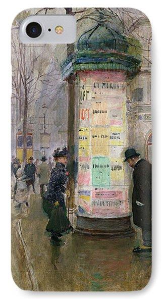 The Colonne Morris Phone Case by Jean Beraud