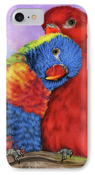 Parakeet iPhone 7 Case - The Color Of Love by Sarah Batalka