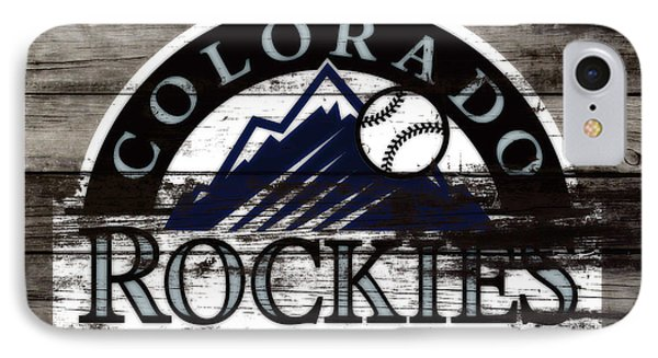 The Colorado Rockies 1b        IPhone Case by Brian Reaves