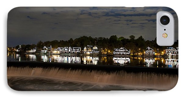 The Colorful Lights Of Boathouse Row Phone Case by Bill Cannon