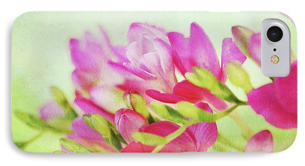 IPhone Case featuring the photograph Colour Full Freesia by Connie Handscomb