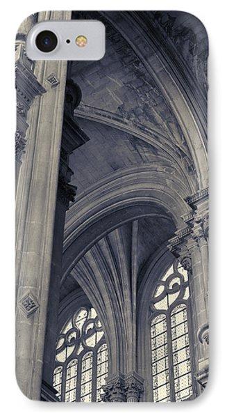 IPhone Case featuring the photograph The Columns Of Saint-eustache, Paris, France. by Richard Goodrich