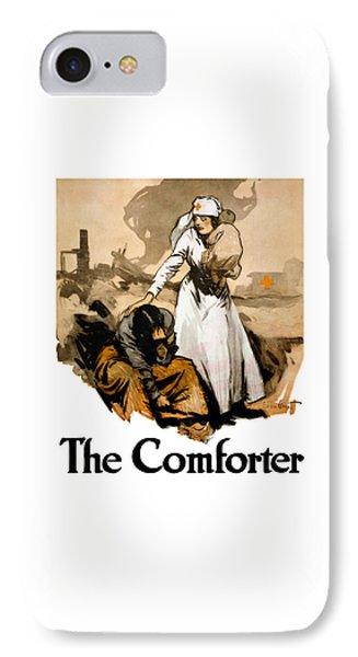 Cross iPhone 7 Case - The Comforter - World War One Nurse by War Is Hell Store