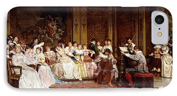 The Concert IPhone Case by Joseph Frederic Charles Soulacroix