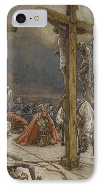 The Confession Of Saint Longinus IPhone Case by Tissot