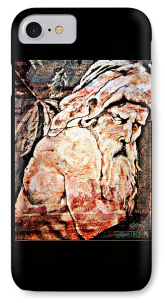 The Contemplation Of Zeus IPhone Case by Cammy Garza