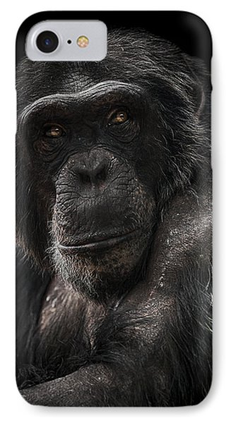 Chimpanzee iPhone 7 Case - The Contender by Paul Neville