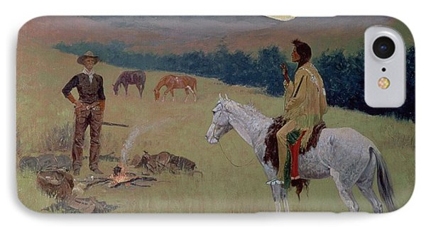 The Conversation IPhone Case by Frederic Remington