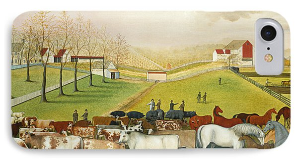 The Cornell Farm IPhone Case by Edward Hicks