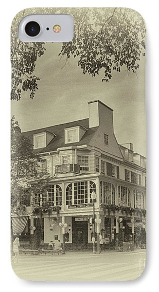 Penn State University iPhone 7 Case - The Corner Room In Sepia by Tom Gari Gallery-Three-Photography