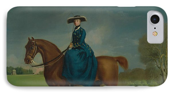 The Countess Of Coningsby In The Costume Of The Charlton Hunt IPhone Case by George Stubbs