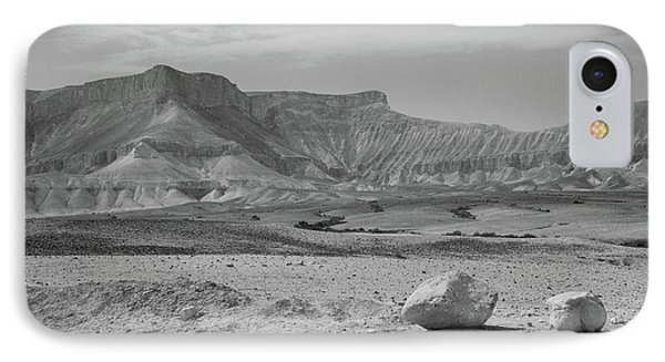 the couple of stones in the desert II IPhone Case
