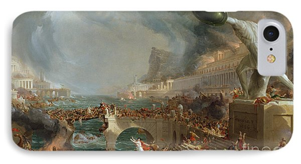 The Course Of Empire - Destruction IPhone Case by Thomas Cole