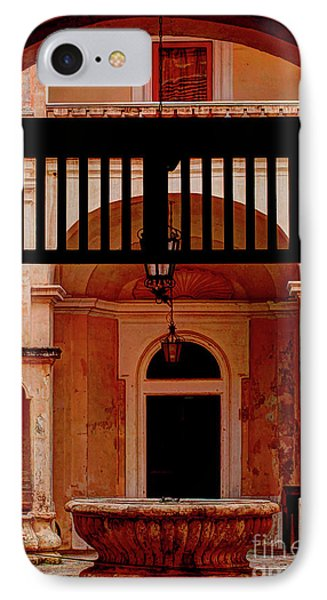 The Court Yard Malta IPhone Case by Tom Prendergast