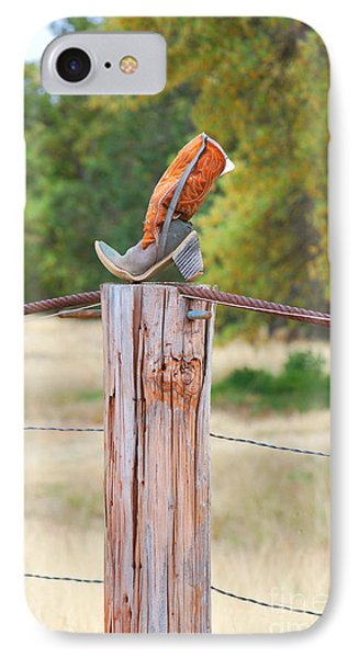 IPhone Case featuring the photograph The Cowboy Boot by Donna Greene