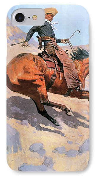 The Cowboy IPhone Case by Frederic Remington