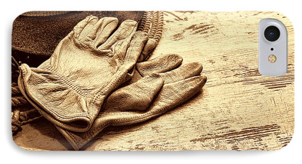 The Cowboy Gloves IPhone Case by American West Legend By Olivier Le Queinec