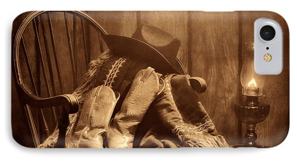 The Cowgirl Rest IPhone Case by American West Legend By Olivier Le Queinec