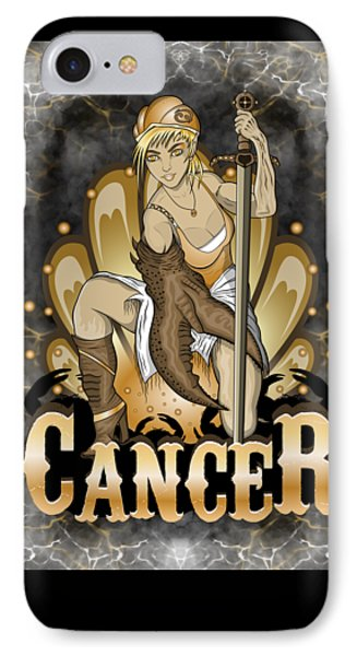 IPhone Case featuring the drawing The Crab - Cancer Spirit by Raphael Lopez