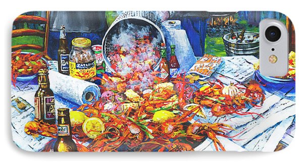 The Crawfish Boil Phone Case by Dianne Parks