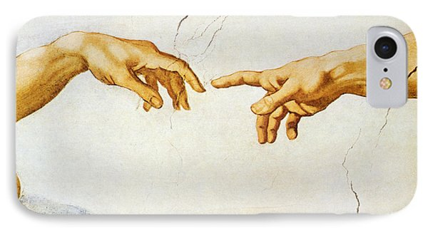 The Creation Of Adam IPhone Case by Michelangelo Buonarroti