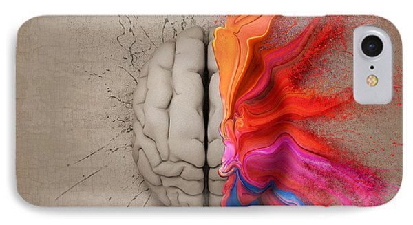 The Creative Brain IPhone Case by Johan Swanepoel