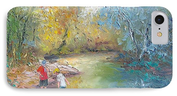The Creek In The Forest IPhone Case by Jan Matson