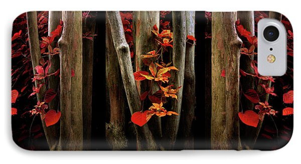 IPhone Case featuring the photograph The Crimson Forest by Jessica Jenney