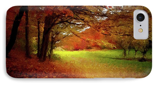 IPhone Case featuring the painting The Crimson Season P D P by David Dehner