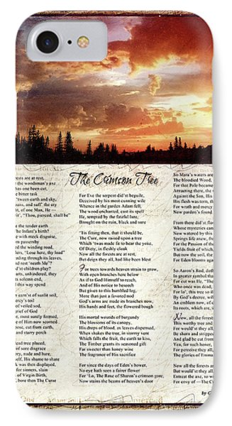 The Crimson Tree Poem IPhone Case by Gary Bodnar