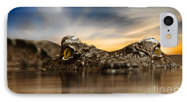 IPhone Case featuring the photograph The Crocodile by Christine Sponchia