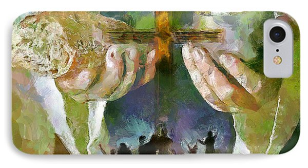 The Cross And The Feast IPhone Case by Wayne Pascall