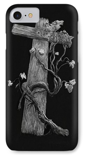 The Cross And The Vine Phone Case by Jyvonne Inman