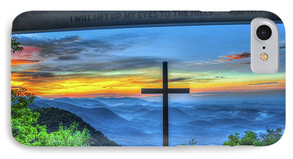 The Cross Sunrise At Pretty Place Chapel IPhone Case by Reid Callaway