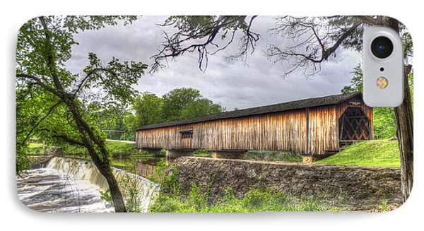 The Crossing Watson Mill Covered Bridge IPhone Case by Reid Callaway