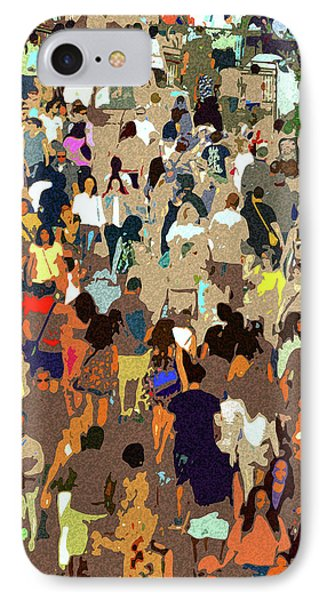 IPhone Case featuring the painting The Crowd by David Lee Thompson