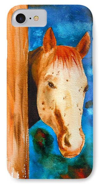 The Curious Appaloosa IPhone Case by Sharon Mick